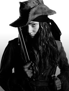 "Clara Paget playing the famous lady pirate Anne Bonny, in Starz ""Black Sails"""