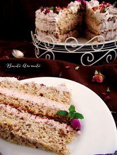 Tort cu cremă de trandafiri și lămâie Cake Recipes, Grains, Sweets, Desserts, Food, Mascarpone, Tailgate Desserts, Deserts, Easy Cake Recipes