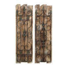Woodland Imports 2 Piece Enchanting Gate Wall Décor Set