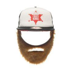 Chuck Norris Foam Trucker Cap mit Bart - schwarz