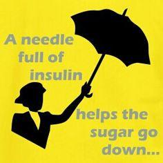 A needle full of insulin---diabetes awareness
