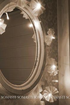DIY vekkivalot silkkipaperista Mirror, Diy, Furniture, Home Decor, Decoration Home, Bricolage, Room Decor, Mirrors, Do It Yourself