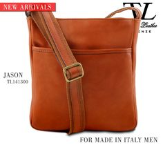 New Christmas arrivals. Discover the new version of Jason, Made in Italy Leather #Crossbody #Bag for man.  #tuscanyleather #madeinitaly