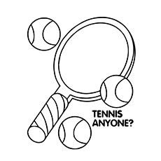 tennis racket and balls coloring pages