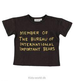 Mini Rodini T-shirt - Sort m. Tekst - Børnetøj med fri fragt.