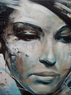 """Today we want to show you beautiful portrait paintings by UK based painter Danny O'Connor (aka DOC). """"Concentrating mainly on figurative and portrait subject matter, his influences include comic books, graffiti, illustration, and character design. L'art Du Portrait, Abstract Portrait, Portrait Paintings, Portraits, Acrylic Paintings, Abstract Paintings, Contemporary Paintings, Art Paintings, Street Art"""