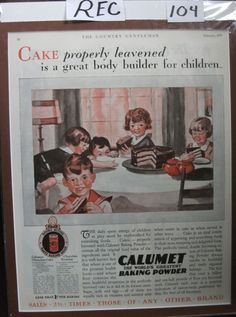 "Rec ... 104   ""Calumet Baking Powder with Recipe""  Ad - February 1929"