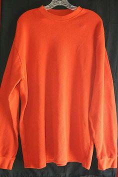 Finl 365 Mens Orange Thermal Shirt XL Cotton Blend Finish Line FINL365 | eBay