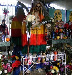Shrine to Santa Muerte