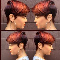 Fleek! @sorayahstyles  #haircolor #dopecut #bangs #stunner #shorthair #style #thecutlife