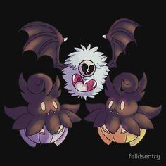9dcc521038 Halloween Pokemon - Pumpkaboo and Woobat Digital Art
