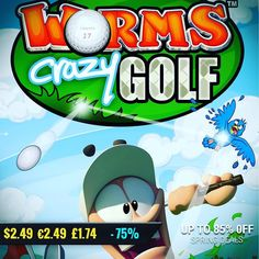 March Spring Sale #gamedeals Worms Crazy Golf -75% Off 2.49 1.74 http://ift.tt/29gx4gX #plugindigital #pcgaming #pcgamer #gaming #siladeals #worms #videogames
