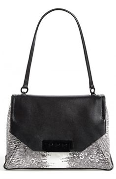 Zac Zac Posen Women's Eartha Snake Embossed Leather Envelope Flap Shoulder Bag