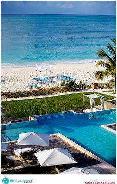Grace Bay Club wedding ceremony on the beach. Turks and Caicos. Brilliant Studios.
