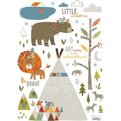 Lot stickers Little indians  - Lilipinso and Co