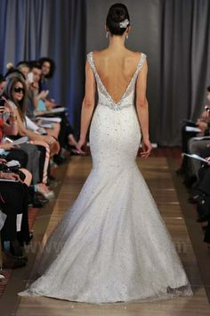 Ines Di Santo Spring / Summer 2013 Bridal Collection | Flickr - Photo Sharing! - Love the shape ---Needs a little something??