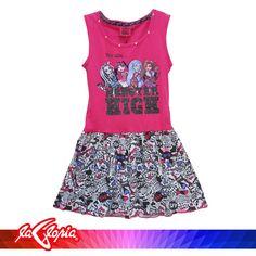 Vestirles cómodas les permite disfrutar de los días libres #Niñas 3er.Piso #Vestido #MonsterHigh