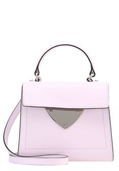 """Handbag - malva. carrying handle:3.0 """" (Size One Size). Fastening:Magnet. height:6.5 """" (Size One Size). Outer material:leather. width:3.0 """" (Size One Size). length:7.5 """" (Size One Size). Pattern:plain"""