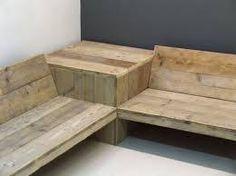 Afbeeldingsresultaat voor loungebank tuin steigerhout
