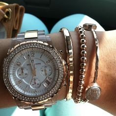 Umm love this! Thank god I just got bracelets and watch just like this!!