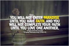 By Prophet Muhamad SAW
