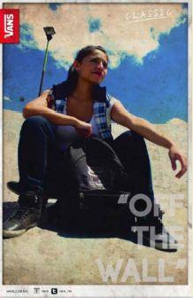 """EDITORIAL** Cartel publicitario """"Vans off the wall""""  (proyecto personal) Diseño: M.Fernanda Gómez J. Fotografía: M. Fernanda Gómez J."""