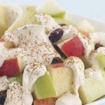 Receta de Ensalada de Manzana con Aderezo de Almíbar y Crema