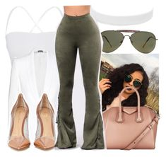 """""""Untitled #2487"""" by kayla77johnson ❤ liked on Polyvore featuring Theory, Alexander McQueen, Forever 21, Givenchy, Vanessa Mooney, Gianvito Rossi and GET LOST"""