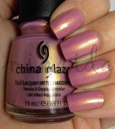 China Glaze, Sunset Glow, 1 coat!