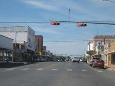 Downtown Pearsall, TX, where I went to high school!  Go Mavericks!