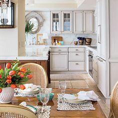 Marjorie Johnston & Co: Coastal Open Kitchen - Eat In Kitchen Design Ideas - Southern Living