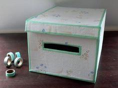 This stylish #diy #box keeps your stuff organized. http://www.1-2-do.com/de/projekt/DIY-Aufbewahrungsbox/bastelanleitung/10913/