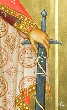 Byzantine Icons, Byzantine Art, Gold Leaf Art, Angel Sculpture, Face Icon, Orthodox Icons, Sacred Art, Renaissance Art, Illuminated Manuscript