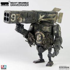 World War Robot Portable - Heavy Bramble Gravedigger - Brand New Art Steampunk, Steampunk Robots, Cool Robots, Cool Toys, Cyberpunk, Ashley Wood, Game Character Design, Robot Design, Vinyl Toys