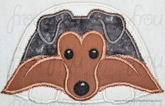 Collie Sheltie Puppy Dog Machine Applique Embroidery Design, Multiple Sizes, including 4 inch