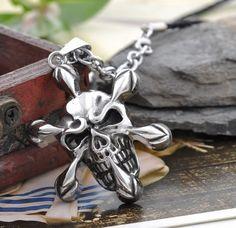 Totenkopf Skull Silber Anhänger Tribal Kette von Enkelbandjes, Voet Sieraden de JewelryMax auf DaWanda.com