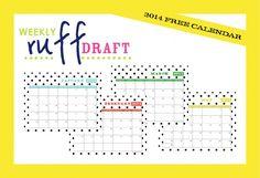 Ruff Draft: 2015 Free Printable Calendar