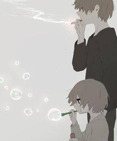 From child to man Dark Art Illustrations, Illustration Art, Sad Anime, Anime Art, Image Triste, Sun Projects, Sad Drawings, Vent Art, Arte Obscura