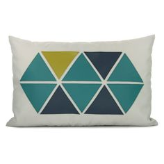 Geometric pillow cover - Apple green, teal & navy blue triangle appliques on grey canvas outdoor pillow cover - pillow cover, CIJ sale Grey Pillows, Throw Pillows, Lumbar Pillow, Dark Blue Grey, Navy Blue, Teal Green, Blue Brown, Light Blue, Outdoor Pillow Covers