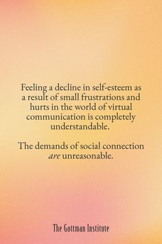 How do you feel about your boundaries with technology? What role does digital communication play in your relationships and self-esteem? The psychological effects of communicating in cyberspace matter. They are just as real as your feelings offline.Dive deeper into this topic on the Gottman Relationship Blog. Gottman Institute, John Gottman, Psychological Effects, Relationship Blogs, Do You Feel, Self Esteem, True Love, Love Story, Communication