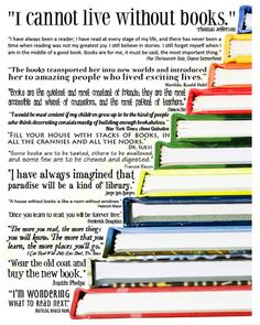 I Cannot Live Without Books Quote Picture