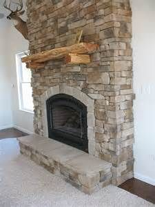 Here is a side view of gas fireplace veneered with cultured stone.