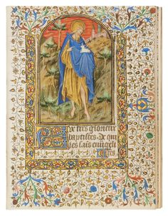 The Rohan Masters' distinctive style is characterized by a striking experimentation with scale, elongated figures, and a somewhat distorted perspective, together leading to an expressive and dramatic result. The Masters – possibly working in a family workshop, first in Troyes, later in Paris, and next in Angers – explored the...