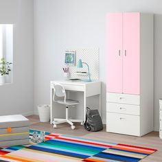 schubladenschrank rosa - Suchen - IKEA Clothes Rail, Hanging Clothes, Childrens Wardrobes, Ikea Stuva, Ikea Closet Organizer, Ikea Wardrobe, White Wardrobe, Frame Shelf, Ikea Kids