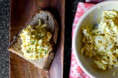 Someone pointed out to me a few weeks ago that this site has not a single recipe in the archives for egg salad. However, unlike the time I realized the broccoli archives boasted but a single recipe…