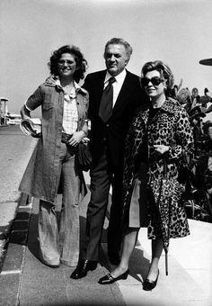 Claudia Cardinale, Federico Fellini and Giulietta Masina