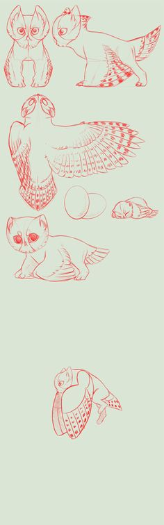 Species concept sketchy+ full perms+ anim  *OPEN* by NorthernRed
