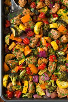 Balsamic Chicken and Veggie Sheet Pan Dinner | Cooking Classy