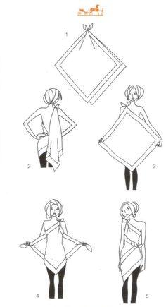 hermes scarf top