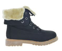 New Women Winter Snow Lace Up Flat Fur Lined Fashion Mid-Calf Boot Casual  KIMBER ae503736dd